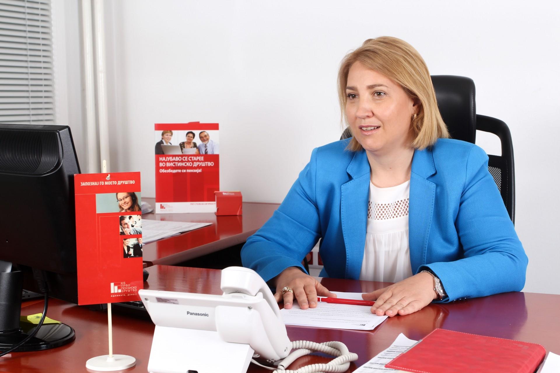Стојановска: За 15 години постоење на КБ Прво пензиско друштво ги исполнивме очекувањата, пред сè на нашите членови