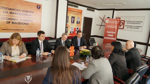 Во Стопанската комора на Македонија беше остварена средба со претставници од Унгарија во функција на зголемување на економската соработката - ПОКРЕНАТА ИНИЦИЈАТИВА ЗА ПОТПИШУВАЊЕ МЕМОРАНДУМ ЗА СОРАБОТКА  СО ЗЕМЈОДЕЛСКАТА КОМОРА НА УНГАРИЈА